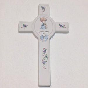 Precious Moments Porcelain Baby Cross 1999 Plaque